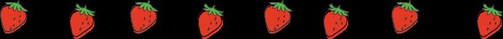 手書き風イチゴのイラスト線