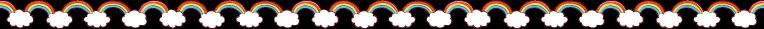 雲と虹のライン素材