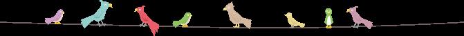 鳥のイラストライン