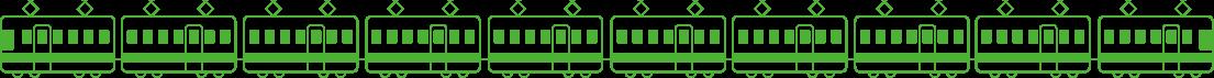 電車のイラストライン電車のイラストライン
