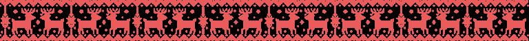 刺繍風のトナカイ ライン